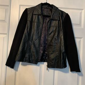 Woman's cuir nuage leather jacket
